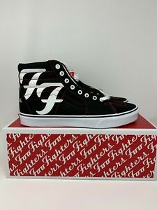 Vans Foo Fighters Sk8-Hi 25th Anniversary Rare Limited Edition Size 9 13 5.5