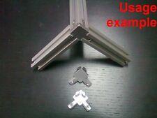 Aluminum T-slot 2020 profile 3-way 90 deg inside corner bracket 20x20-6mm, 4-set