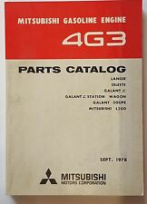 Ersatzteilkatalog / Spare Parts Catalog Mitsubishi 4G3 Motor / Engine 9/78