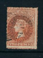 South Australia - 1859 - 2d QV - Rouletted - Red - SC 11 [SG 15] USED A6