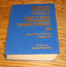 1998 1999 2000 MOTOR GM Passenger Car Engine Performance & Driveability Manual
