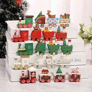 Ornamental Miniature Christmas Wooden Train (New/Boxed)