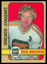 1972 73 OPC WHA O PEE CHEE #298 RON ANDERSON EX-NM CHICAGO COUGARS HOCKEY Card