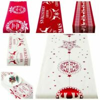 Christmas Table Runner Dinner Party Decor Decorative Christmas Tablecloth  Mat