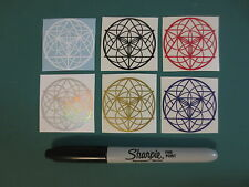 Seed Of Merkaba Sticker Pack - Sacred Geometry, Die Cut Stickers, Vinyl Decals