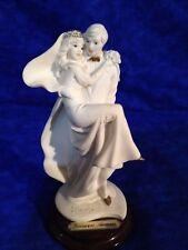 Giuseppe Armani Vintage Groom Carrying Bride Miniature Wedding Figurine