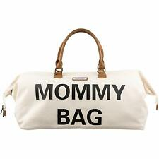 Madellena Mommy Bag Stylish Chic Canvas Off White Cream Diaper Bag New With Tags