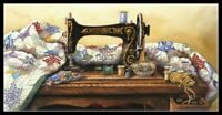 Vintage Sewing Machine - Chart Counted Cross Stitch Pattern Needlework Xstitch