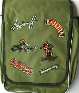 Distillery Canvas Bag Green Smirnoff Baileys Crown Royal Captain Morgan etc NEW