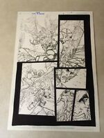 THUNDERCATS #5 original comic art LION-O, DETAILED BATTLE PAGE, D'ANDA, 2004