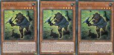 YUGIOH CARD - 3 X IRON HANS -  BLRR-EN006 -  ULTRA  RELENTLESS REVENGE