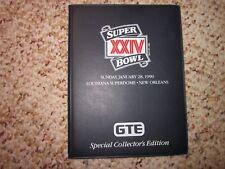 1990 Pro Set Super Bowl XXIV GTE Special Collector's Edition 40 Card Set