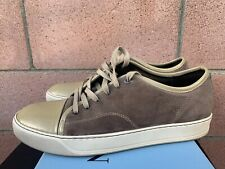 Lanvin Men DBB1 Sneakers Beige Suede Low Top Lace Up Shoes Trainers US 8