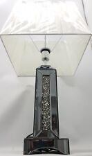 Ecrasement de Diamant Teinté Argent Copié Grand Scintillant Lampe de Table
