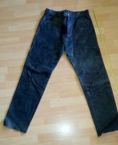 Motorradhose Jeansschnitt Leder Gr.50  Motorradlederhose Jeans Vintage