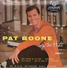 7inch PAT BOONE sings the hits - vnumber 3 UK EP EX 60'S (S1947)