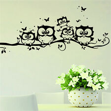 Cartoon Black Owl Wall Sticker PVC Waterproof Decal For Home Nursery Room Decors