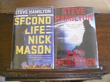 SECOND LIFE OF NICK MASON & EXIT STRATEGY, Steve Hamilton SIGNED 1st prints, HC
