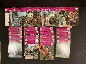 1977-79 Huge Large Collection Lot 65+ Sportscaster Motorcycle Racing Cards
