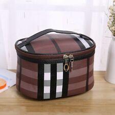 Multifunctional Plaid Travel Storage Cosmetic Bag
