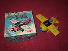 Old Tin/plastic Wind Up Roll Over Plane Airplane Pilot Yone #2142 WITH BOX!!
