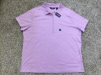 NWT Lands End Women's Pink Amethyst Soft Pima Polo Shirt Blouse Top Sz 2X