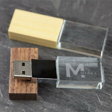 Tapa De Madera Cristal USB Flash Drive Regalo de fotografía Personalizadas logotipo personalizado