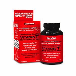 MuscleMeds Vitamin T Men's Test Boosting Multi-Vitamin, 90 Tablets - 09/2023