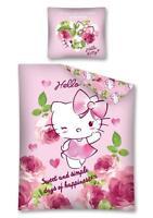 HELLO KITTY PARURE DE LIT 100% COTON HOUSSE DE COUETTE 160x200 + TAIE 70x80