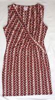 EX CON Size 12 Leona Edminston Dress Geo Print Sleeveless Above Knee Length Chic