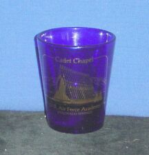 US Air Force Academy, Colorado Springs, CO on 1oz Blue Glass Shot Glass - NEW