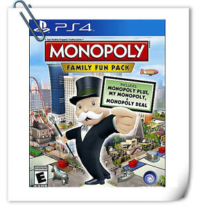 PS4 MONOPOLY: FAMILY FUN PACK SONY PlayStation Ubisoft Board Games