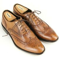 TO BOOT NEW YORK Mens Size 9.5 Wingtip Brown Leather Brogues Shoes Made in Italy