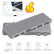 6 Port USB-C Hub 3.1 Adapter 6in1 SD/Micro SD and TF Card Reader for MacBook Pro