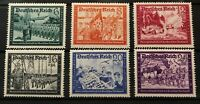 1941  Germany ( Deutsches Reich ) Mi 773 - 778  Complete Set MNH.