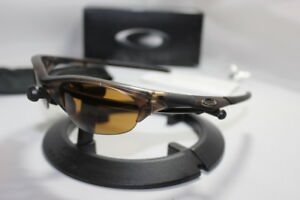 New Oakley Half Jacket 1.0 Brown Smoke w/Bronze Lens Asian Fit 42-470