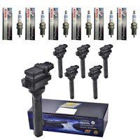 New Herko Ignition Coils (6) + (6) Bosch 6705 Spark Plugs For 2001-06 Suzuki