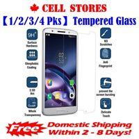 【1/2/3/4 Pks】Tempered Glass Screen Protector for Motorola Moto Z3 Play