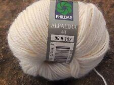 PHILDAR  ALPALIMA 10 pelotes  de 50g de laine écrue 50% Alpaga  2,5 - 3  aig.