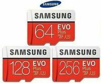 EVO Plus Micro SD SAMSUNG 256/128/64GB Class10 U3 Flash Memory Card w/SD Adapter