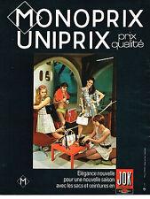 PUBLICITE ADVERTISING 024   1969   MONOPRIX  sacs ceintures JOK