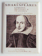 Shakespeare's First Folio Fridge Magnet (2 x 3 inches) shakespeare first edition