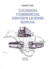 COMMERCIAL DRIVER'S MANUAL FOR CDL TRAINING (LOUISIANA) ON CD IN PDF PROGRAM.