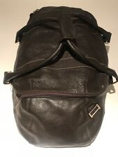 Dunhill - Dunhill Full Grain Leather Duffle Holdall Bag