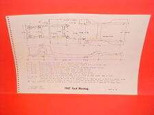 1967 FORD MUSTANG GT CONVERTIBLE HARDTOP 2+2 FASTBACK FRAME DIMENSION CHART