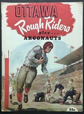 1951 CFL Football Program Ottawa Rough Riders vs Toronto Argonauts Vintage