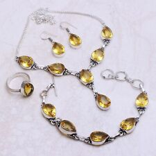 Citrine Gemstone Ethnic Handmade Jewelry Sets L-542