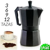 CAFETERA EXPRESSO CLASICA 3 6 9 12 TAZAS MOKA ITALIANA ALUMINIO COFFEE MAKER DIY