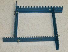 New listing Vintage Adjustable Blue Square Metal Loom Pot Holder Loom 7 x 7