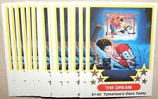 20 THE DREAM HOCKEY CARDS*RARE OLD 1991 1992 7TH INNING SKETCH INSERTS*PSA READY